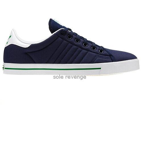 New adidas Originals Mens ADICOURT AS Navy bluee White Green Q33098 x1