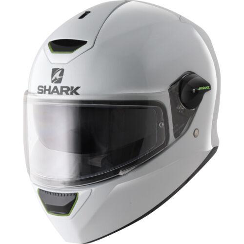 SHARK Motorcycle FULL FACE LED LIGHT Helmet SKWAL White *SALE* WAS £199.99 WHU
