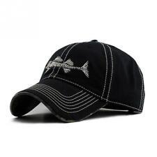 Fish Cap Bone Skeleton Baseball Adjustable Sun Embroidery Cotton Casual Men  Hat c2e64f947bb