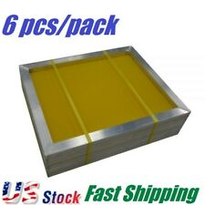 6 Pcs 20 X 24 Aluminum Frame Silk Screen Printing Screens With 305 Mesh Count