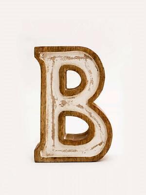 Fl D Wooden Alphabet Initial Home Table Decor Hall Décor