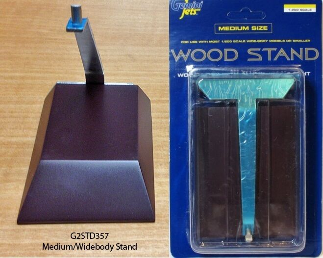 Gemini trä and Metal Stand for Medium   Widbody Non A380 1 200 Scale Planes
