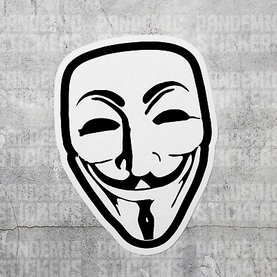 Bumper Sticker Vinyl Decal Guy Fawkes Anonymous