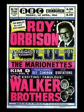 "Roy Orbison / Walker Brothers Edinburgh 16"" x 12"" Photo Repro Concert Poster"