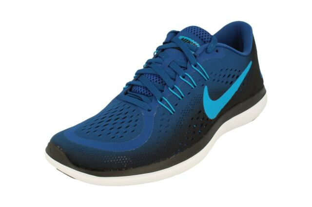 afc2482c124 Nike Flex 2017 RN Mens 898457-402 Gym Blue Orbit Mesh Running Shoes ...