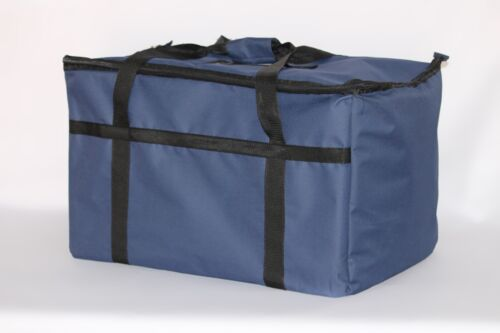 """Pan Carrier Black Nylon 23/""""x13/""""x15/"""" New Excellent Insulated Food Delivery Bag"""