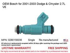 OEM Bosch Fuel Injector /> 2001-2002 Dodge Intrepid 2.7L V6 Single- 0280156036