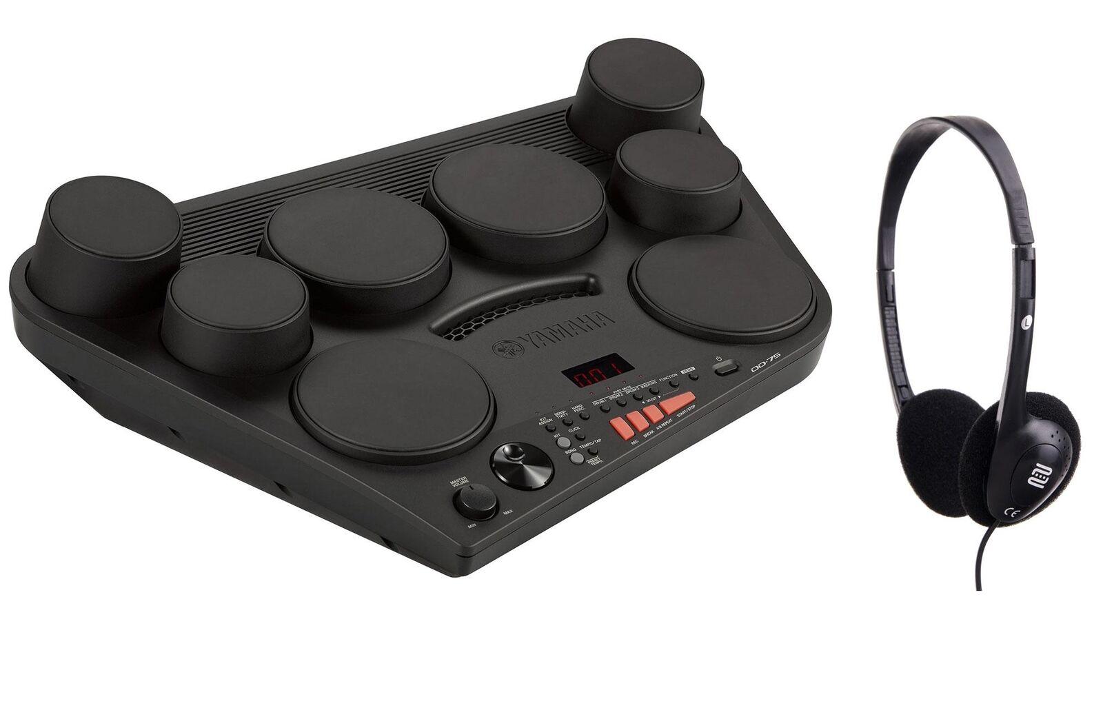 Yamaha DD-75 E-Drum Set Kopfhörer Netzteil Drumkit MIDI AUX Batterie kompakt