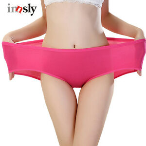 63197f202a5 Large Size Women s Briefs Cotton Underwear Flexible Bamboo Panties ...