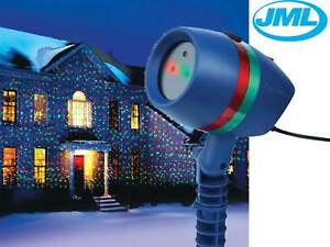 Jml star shower motion laser light projected outdoor indoor xmas christmas light 6114055045986 for Star shower motion m6