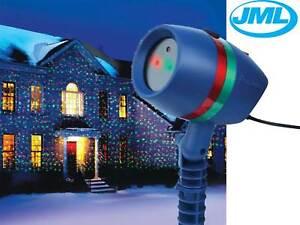 Jml star shower motion laser light projected outdoor indoor xmas christmas light 6114055045986 for Avis star shower motion