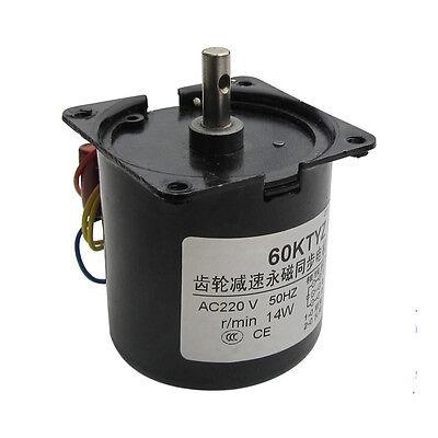 1PCS AC220V 15RPM Permanent Magnet Synchronous Gear Motor 60KTYZ Copper Coil