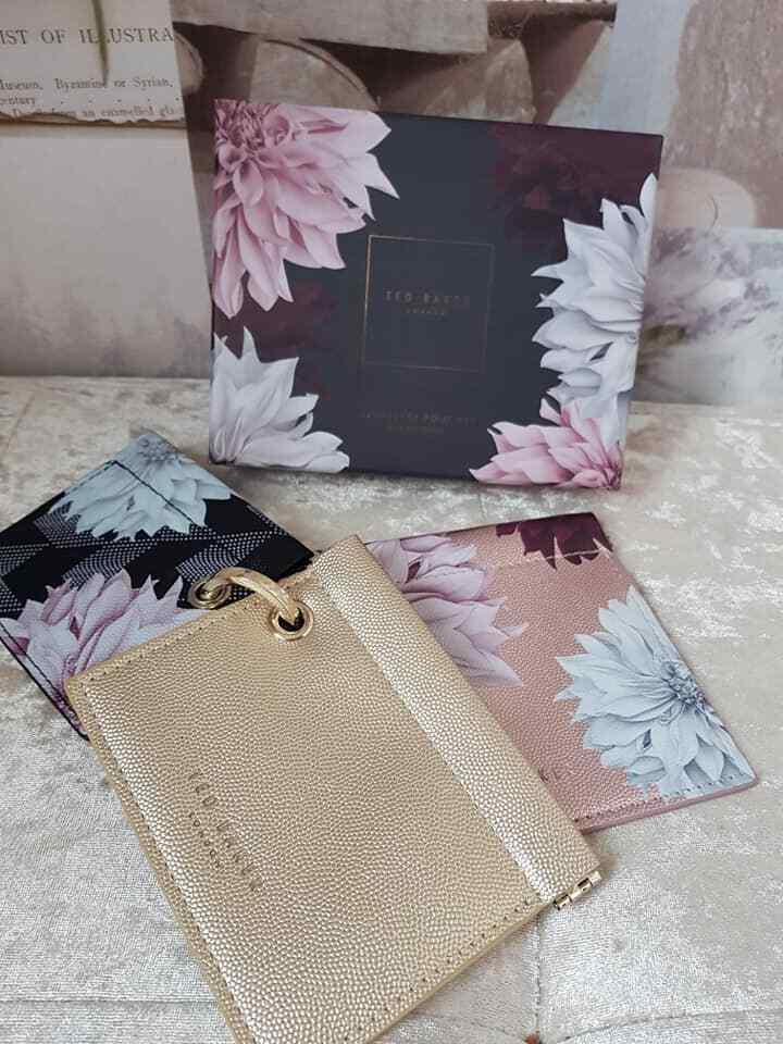 * Ted Baker Clove Jewellery Pouch 3 x Trio Gift Set Travel Cases Boxed New