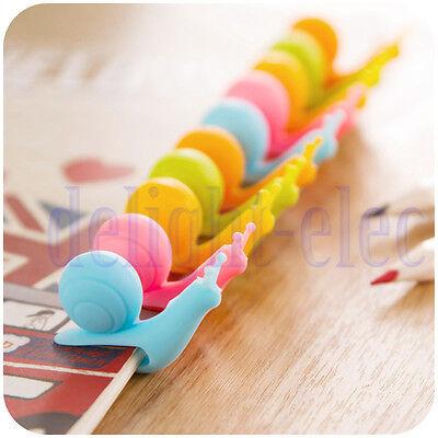 10Pcs Lovely Snail Design Silicone Tea Bag Holder Cup Mug For Party New DE