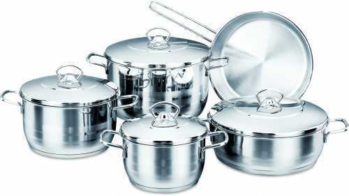 Korkmaz a 1900 Astra marmite cookware set 18//10 Inoxydable Induction Convient