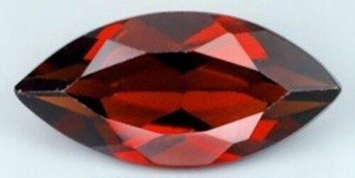 RED GARNET 15 x 7 MM MARQUISE CUT ALL NATURAL
