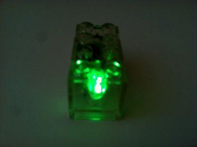 NEW CUSTOM LEGO Light-Up Brick - 2x4 Green Piece/Part