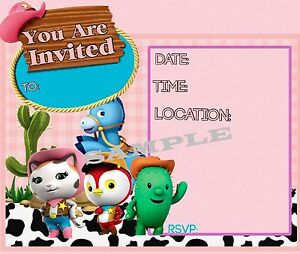 Sheriff Callie Party Invitations With