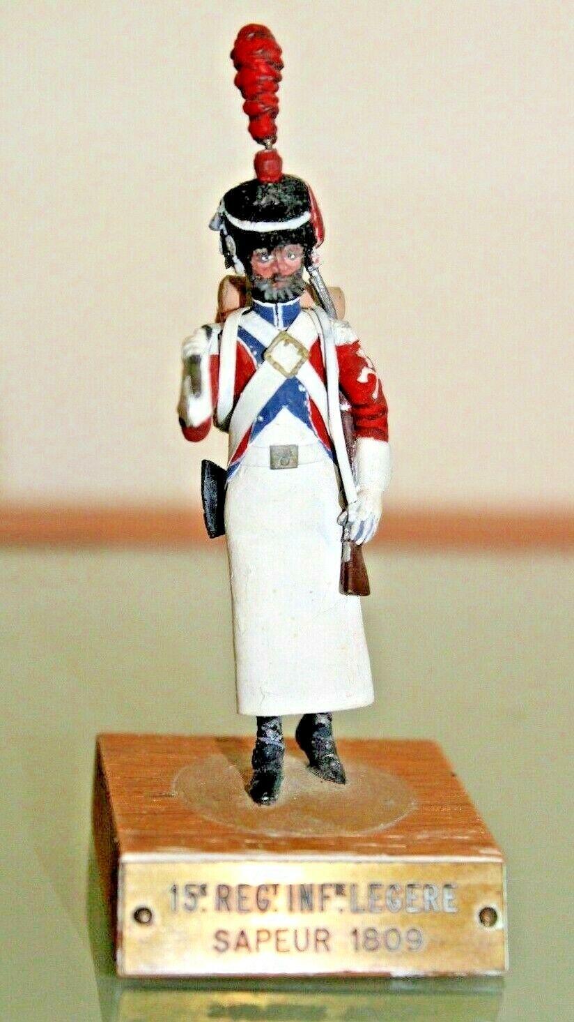Figura Soldado PLOMO Antiguo Sapeur Dumesnil 1950 65 París