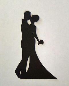 5 x bride groom wedding silhouette 12 die cuts quality black card image is loading 5 x bride amp groom wedding silhouette 12 junglespirit Gallery
