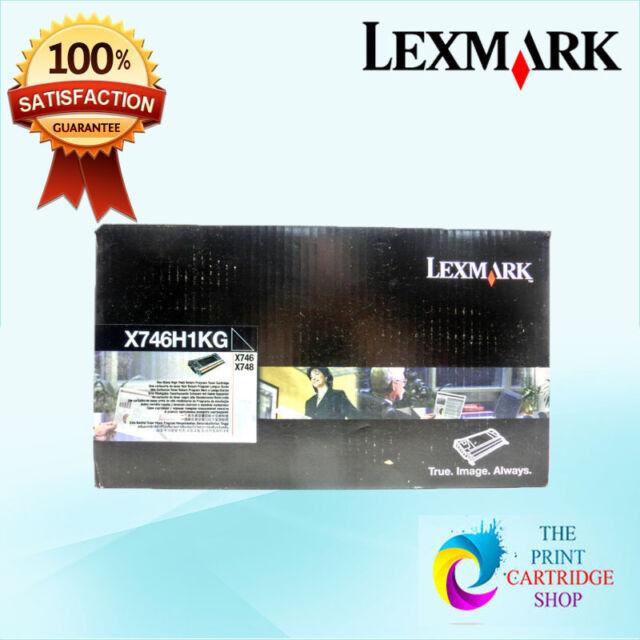 New & Genuine Lexmark X746H1KG Black Toner Cartridge X746 & X748 12K Pages