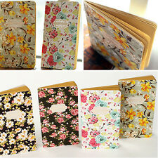 High Retro Flower Cover Cute Journal Diary Notebook Sketchbook Notepad Plan Memo