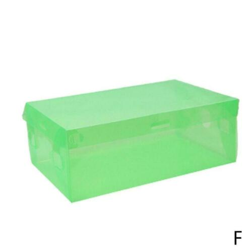Home Foldable Plastic Clear Shoes Boots Box Stackable Tidy Box Storage Organizer