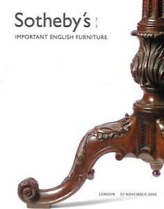 Sotheby S Imp English Furniture Auction Catalog London 2006 Ebay