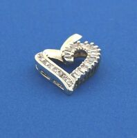 10k yellow gold heart pendant .50ct diamonds