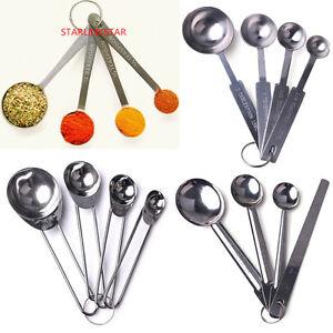 4ps-Stainless-Steel-Measuring-Cup-Spoon-Set-Baking-Scoop-Teaspoon-Kitchen-Tool