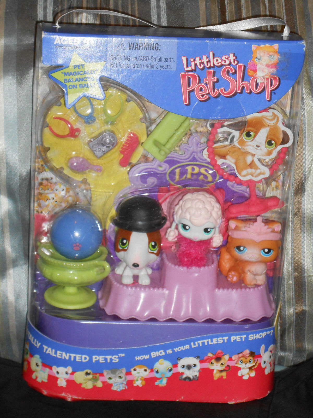LITTLEST PET SHOP TOTALLY TALENTED PETS NIB PERSIAN BULL TERRIER POODLE
