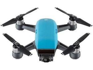 DJI Spark Palm Launch Quadcopter Drone with UltraSmooth Camera, Sky Blue, CP.PT.