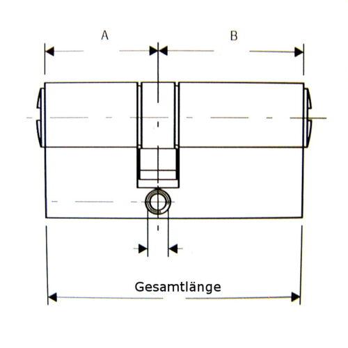 "3 Schlüssel /""Zeiss/"" Ikon Doppel-Profilzylinder Typ 525 Messing poliert"
