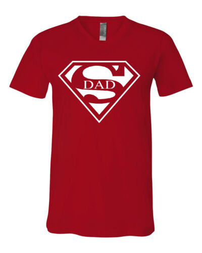 Super Dad V-Neck T-Shirt Funny Superhero Father/'s Day Tee