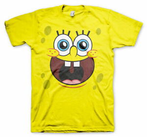 Officially-Licensed-SpongeBob-Squarepants-Happy-Face-Men-039-s-T-Shirt-S-XXL-Sizes