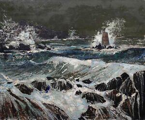 Bernard-Louis-1926-1997-Sea-Unleashed-Brittany-Saint-Brieuc-Montmartre