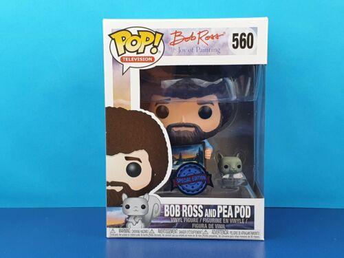 Bob Ross With Pea Pod Funko Pop Vinyl Figure Squirrel Joy Of Painting #560