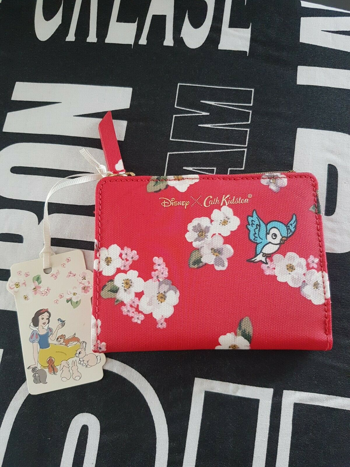 Red Cath Kidston Disney Snow White Folding Card Purse New with tags
