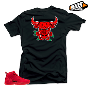 Shirt-to-Match-Jordan-12-Bulls-Bull-12-Black-Tee