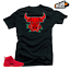 Shirt-to-Match-Jordan-12-Bulls-Bull-12-Black-Tee miniatura 1