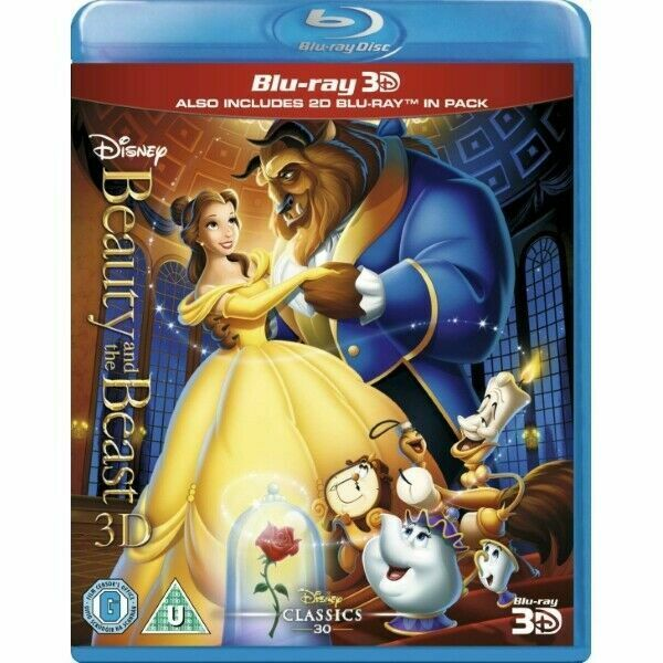Disney Beauty And The Beast 3d Blu Ray Region Import 2d For Sale Online Ebay