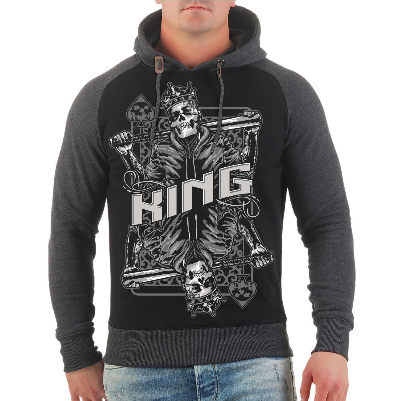 Kapuzenpullover King Outfit Weihnachten Geschenk Pärchen Partner Look Hoodie