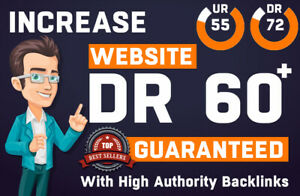 increase domain rating ahrefs DR from 0 to 60 plus or Maximum with SEO Backlinks