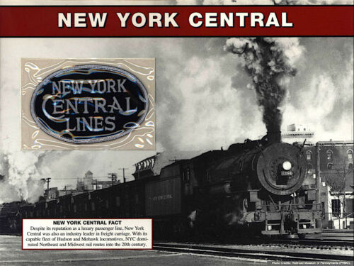 NEW YORK CENTRAL LINES Willabee Ward GREAT AMERICAN RAILROAD EMBLEM PATCH SHEET