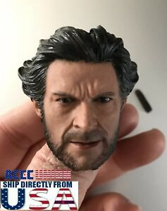 1//6 Scale Wolverine Head with Neck X-men Logan Old Hugh Jackman USA IN STOCK