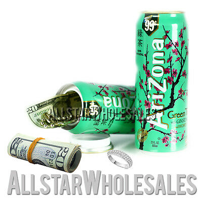 Green Tea Soft Drink Safe Can Diversion Stash Secret Storage Hide Stash