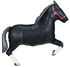 """43"""" BALLOON new BLACK HORSE party RODEO cowboy POLO favors WESTERN equestrian"""