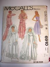 1979 McCalls Pattern #6910-Wedding /Bridesmaid Dress-10- Empire Waist