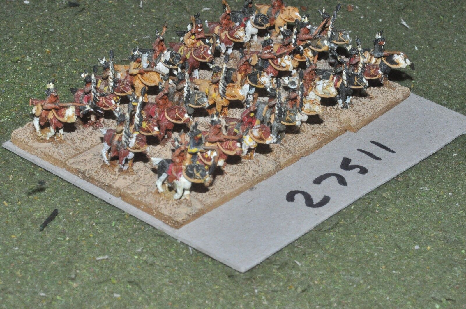 10mm ACW   indian - warriors 30 figures - cav (27511)