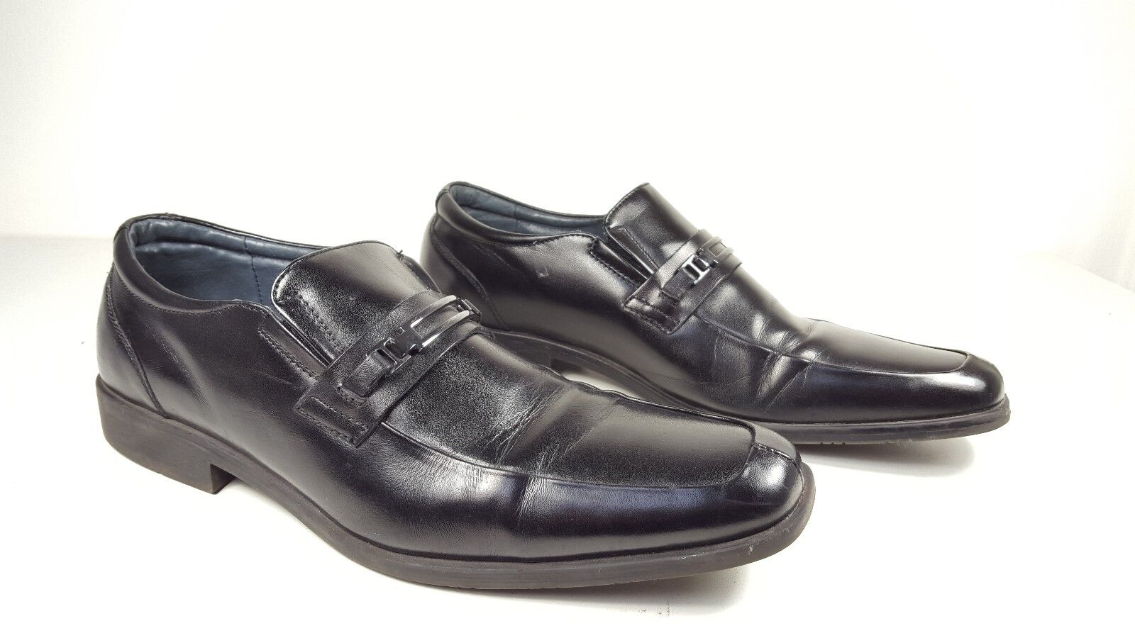 7c050f496589e6 size 11 Steve Madden Madden Madden Cirka Black Leather Oxfords Loafers Mens  Dress Shoes ee186f